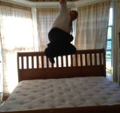 New king sized bed…