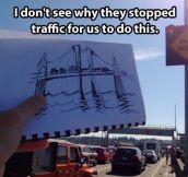 Draw bridge…