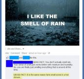 I like the smell of rain…