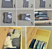 Save precious drawer space…