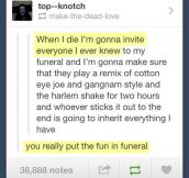 Funeral party…