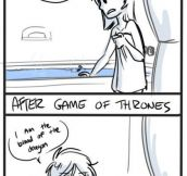 Before and after Game of Thrones…