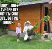 I only have one bee suit…
