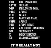 It's really not that hard…