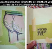 Hispanic thank you card…