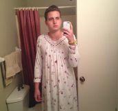 Grandma's pajamas…