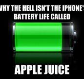 Apple juice…