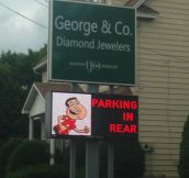 Local jewelry store has a sense of humor…