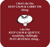 About the keep calm and carry on thing…