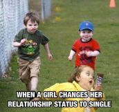 When girls become single…
