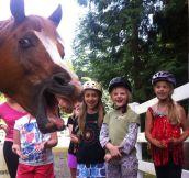 Photobomb level: horse…