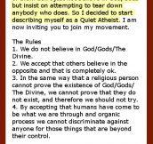 Quiet Atheists…