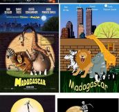 Movie posters recreated with Comic Sans and Clip Art…