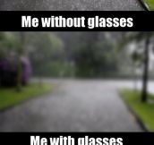 As a person with glasses, life is not easy…