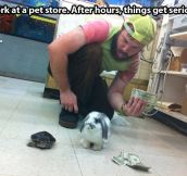 Pet store after hours…