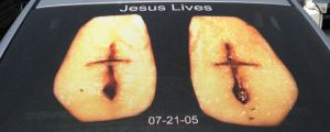 You can't argue with a potato, atheists…