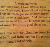 A morning prayer…