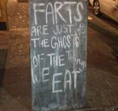 The ghosts of the things we eat…