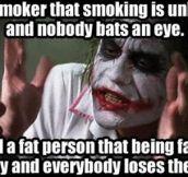 Society's logic…