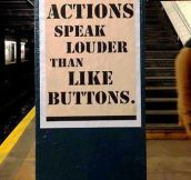 Actions vs. like buttons…