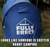 A little excited about camping…