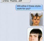 New haircut…