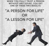 When you trust a person…