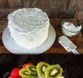 Watermelon cake…