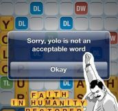 Not an acceptable word…