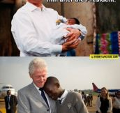 Good guy Bill Clinton…