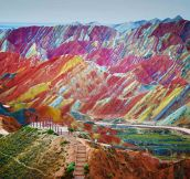 China's Rainbow Mountains…