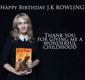 Happy Birthday, JK Rowling…