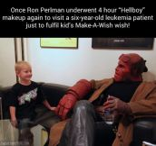 Good guy Ron Perlman…