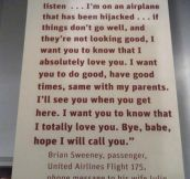 The most powerful quote from 9/11…
