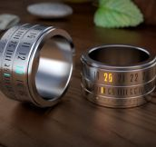 Futuristic ring watch…