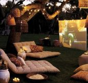 The perfect place for movie nights…