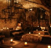 A 14th century Medieval tavern in Prague…