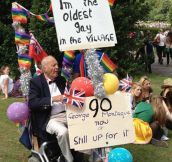 The oldest gay in the village…