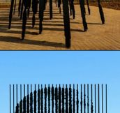 Sculpture where perspective matters…
