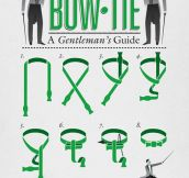 How to tie a bow tie…