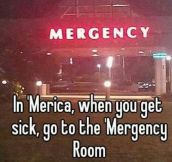 When you get sick in 'Merica…