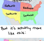 The US and its geography…