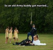 Army guy gets married…