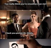 Aziz is smooth…