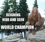 Indisputable hide and seek world champion…