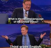 America's official language…