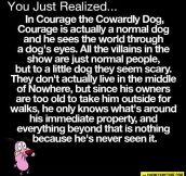Courage the cowardly dog's real story…