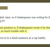 Teacher has a point…