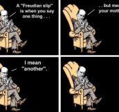 Freudian slip explained…