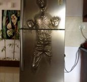Han Solo Carbonite fridge…